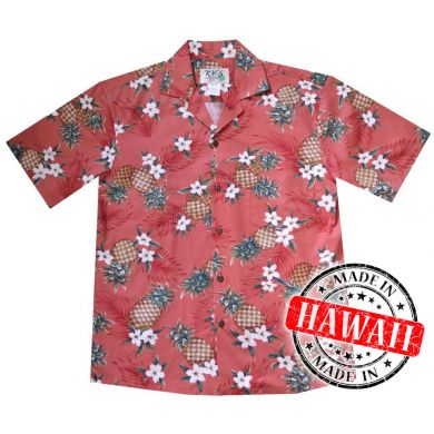 "Hawaii Shirt ""Ananas Rot"""