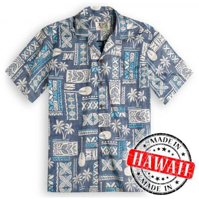 "Hawaii Shirt ""Tapa Blau"""