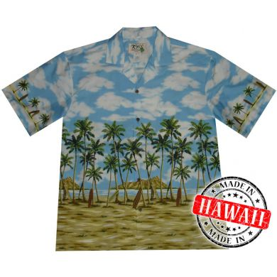 "Hawaii Shirt ""Palme am Strand"""