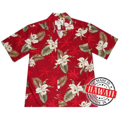 "Hawaii Shirt ""Hibiskus Rot"""