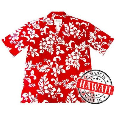"Hawaii Shirt ""Hawaii Blumen Rot"""