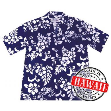 "Hawaii Shirt ""Hawaii Blumen Blau"""