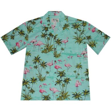 "Hawaii Shirt ""Flamingos"""